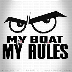 My Boat Vinyl Decal Sticker Speed Bowrider Dive Bass Deck Runabout Towboats Sail