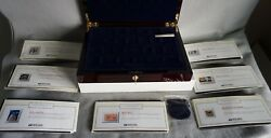 Usps - United We Stand 25 Stamp Ingots .999 Silver And 24k Gold Set Unopened W/coa