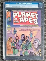 Planet Of The Apes 1-marvel Magazine Off White-white Pages-cgc-9.6 Graded