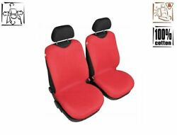 Universal Cotton Front Seat Covers Red T-shirt Chevrolet Spark