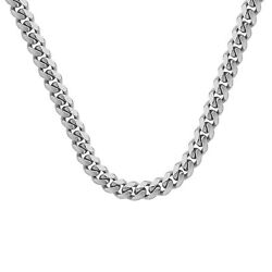 5.00-10.40mm Miami Cuban Link Chain Necklace For Women Solid 925 Sterling Silver