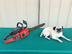 Sears Craftsman 3.7/18 Chainsaw With Bar Selling For Parts Or Repair Oem
