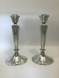 Pair Of Gorham Sterling Silver Candlesticks / Candle Holders