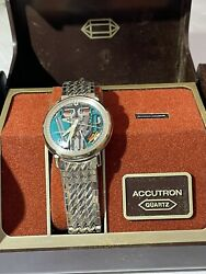 Accutron Spaceview Original Refurbished 3 Months Warranty Except Battery
