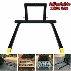 Adjustable 3 Point Quick Hitch Pallet Fork Category 1 Tractor Carry Forks Mover