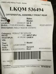 Ref Meritor-rockwell Rd20145r355 0 Differential Assembly Front Rear Lkqm 536494