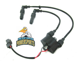 Kawasaki Ignition Coil And Wires For Cylinders 1 And 4 2003-2021 Stx 12f 15f Ultra