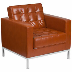 Flash Furniture Hercules Lacey Series Contemporary Cognac Leather Chair