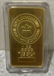 Royal Canadian Mint - 1 Oz .9999 Fine Gold Bar Or Pur Wow Invest Now