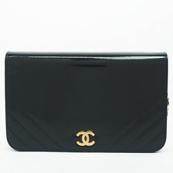 Chain Shoulder Gold Fittings Coco Mark Bag From Japan Fedex No.1655