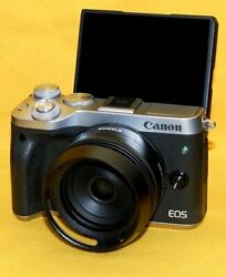 One Shot Canon Eos M6 Pancake Lens Certain Company Hood With 32gb Updated To