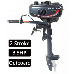 Outboard Motor Boat Engine Heavy Duty 2 Stroke 3.5hp W/ Air Cooling System 2.5kw