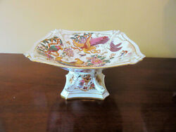 Stunning Rare Vtg. Royal Crown Derby Olde Avesbury Footed Center Console Bowl