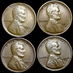 1915 1915-d 1922-d 1926-d Lincoln Cent Wheat Penny Lot ---- Nice Lot ---- P034
