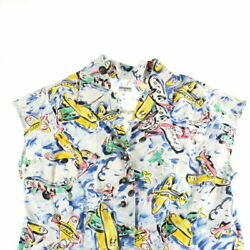 Total Pattern Airplane Coco Button Shortsleeved Shirt Multi No.6681