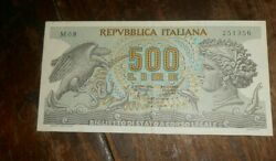 Italy 500 Lire Bank 1966 Bank Note