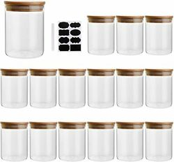 6oz/200ml Clear Glass Food Storage Containers Set Airtight Food Jars With Lids