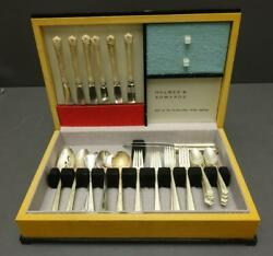 Flatware 51pc Holmes And Edwards Bright Future Service For 8 +extras Art Deco Box