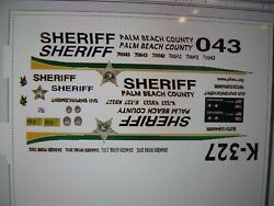 Palm Beach County Florida Sheriff K9 vehicle decals 1:64 two for one money