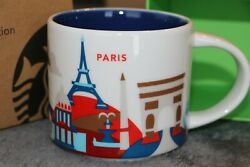 New Authentic Starbucks Paris You Are Here Mug With Box - Us Seller