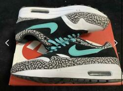 Nike Air Max 1 Atmos Cement Elephant Green 908366 001 Us 9 With Box