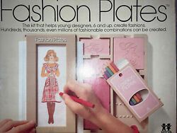 Vintage 1978 Tomy Fashion Plates Design Kit Used With Pencils