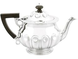 Sterling Silver Teapot By Reid And Sons - Arts And Crafts Style - Antique