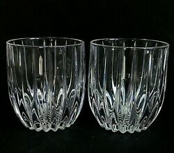 2 Two Mikasa Park Lane Lead Crystal Executive Dbl Old Fashioned - Discontinued