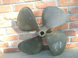 Austral Propeller 23x20 Lh Bdp01745 1-11/16 Shaft 4 Blade 34lbs Old Boat Part
