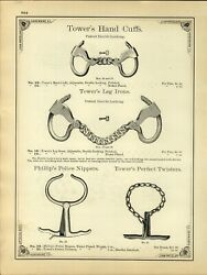 Ca. 1890 Paper Ad Mining And Blasting Dynamite Towers Leg Irons Phillips Nippers