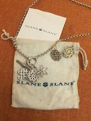 Slane And Slane Toggle Necklace With Three Pendants And Earrings