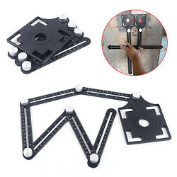 Adjustable Six-fold Ruler Drill Guide Ceramic Tile Hole Opening Locator