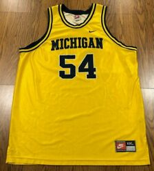 Used Vintage Nike Michigan Robert Tractor Traylor 54 Basketball Jersey Size Xxl