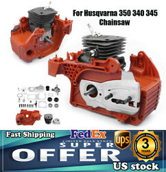 Motor Assembly 44mm For Husqvarna 350 340 345 Chainsaw Crankcase Piston Cylinder