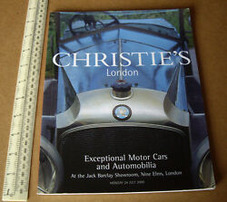 Motor Cars And Automobilia At Jack Barclay.christieand039s London Year 2000 Catalogue
