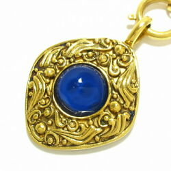 Necklace Gripoa Loombas Top Removable Gold Blue Metal Material No.4843