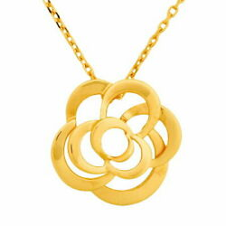 Camellia Necklace K18yg 41cm Previously Owned Free Shipping No.4801