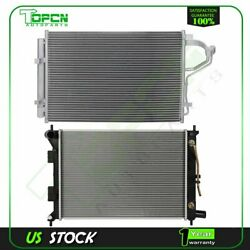 Fits 2011-2013 Hyundai Elantra Replacement Radiator And Condenser Assembly