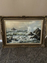 Original Seascape Painting By Robert Wee Signed Artist
