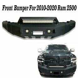 Front Bumper Guard Winch Plate 2and039and039 Receiver D-ring For 2010-2018 Dodge Ram 2500