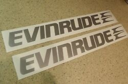 Evinrude Vintage Outboard Motor Decals 18 2-pak Free Ship + Free Fish Decal