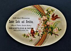 1880s Antique Sharpless And Sons Phila Pa Easter Cards Novelties Adtrade Card