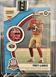 2021 Panini Instant Rs3 Trey Lance Rated Rookie Showcase Blue Andrsquod 21/25 49ers