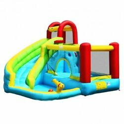 6 In 1 Inflatable Bounce House With Climbing Wall And Basketball Hoop Without B
