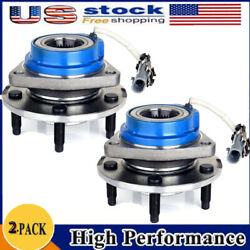 Pair 2 Front Wheel Bearing And Hub Assembly For Impala Grand Prix 5 Lug W/ Abs