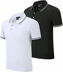 Menand039s 2 Pack Dry Fit Polo Shirts Quick Dry Golf Polo Shirts Moisture Wicking Sho