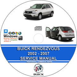 Buick Rendezvous 2002 2003 2004 Service Repair Manual And Wiring Diagrams On Cd