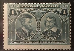 Gorgeous 1908 And Champlain One Cent Gem Stamp Extremely Rare