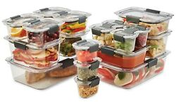Rubbermaid Airtight Leak Proof Food Storage Containers 18 Piece Set