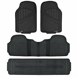 Motor Trend 3 Row Odorless Rubber Floor Mats And Liners For Car Suv Van Durable...